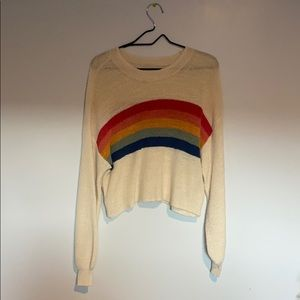 Cropped rainbow sweater